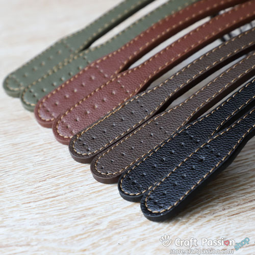 "Leather Shoulder Straps, 23.6"" / 60cm, 1 pair"