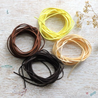 Leather Cord, 3mm - 1 meter length