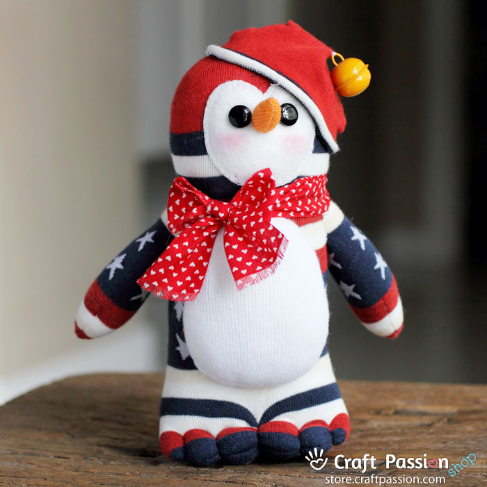 no sew sock penguin craft riri sock penguin 6962