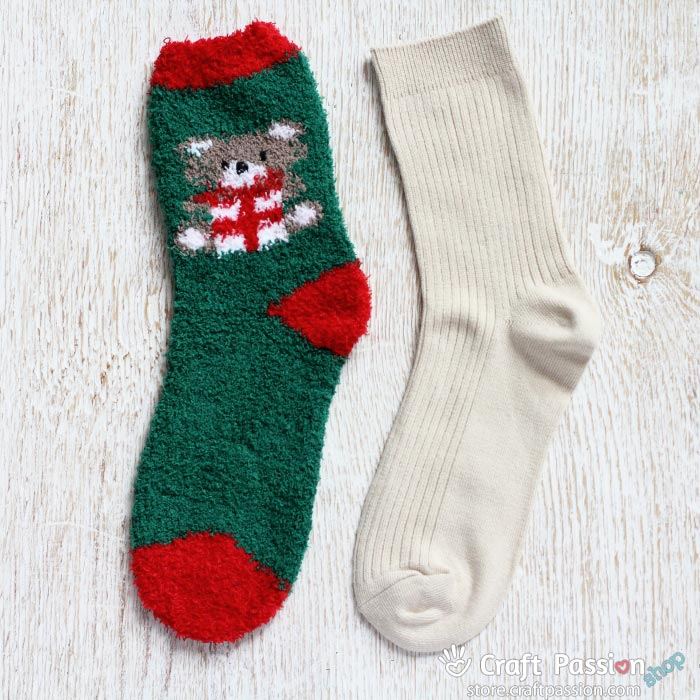 bear gift chenille sock set