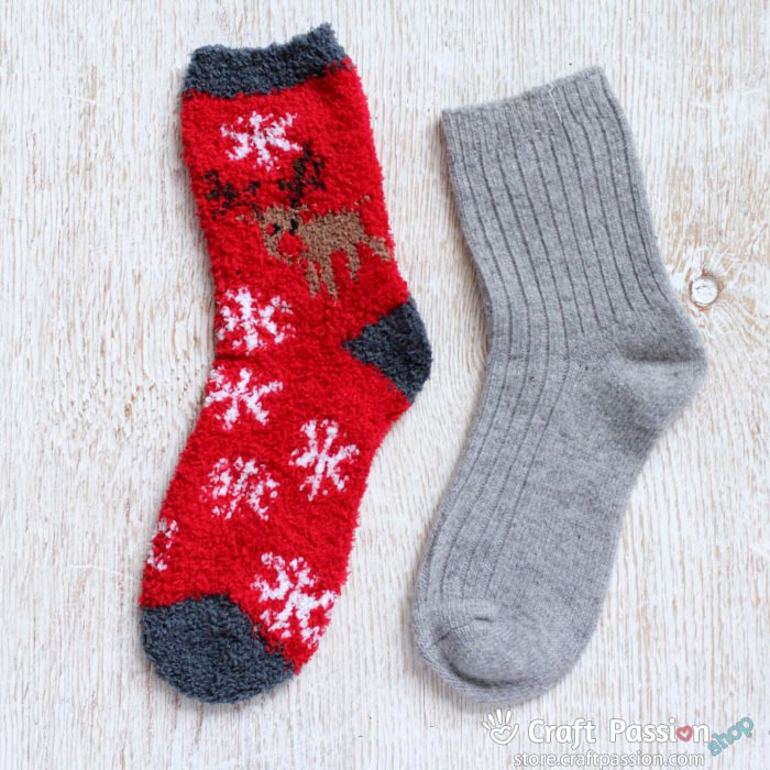 reindeer red sock set