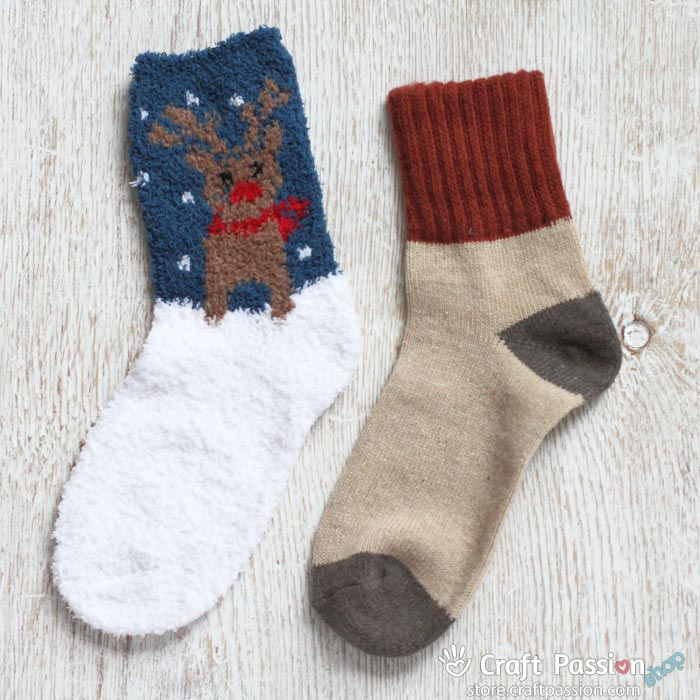 Christmas chenille socks
