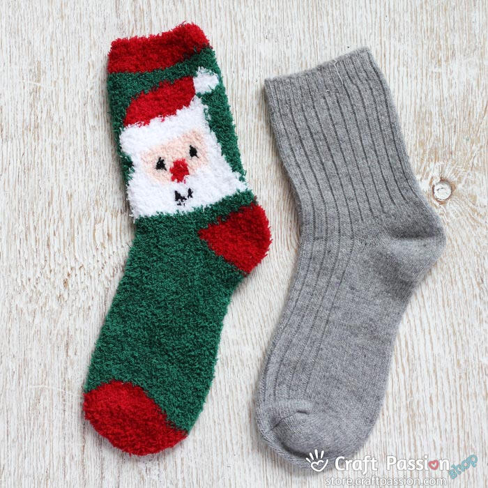 Christmas chenille socks set