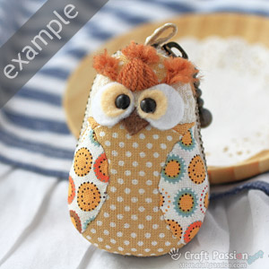 orange owl mini purse
