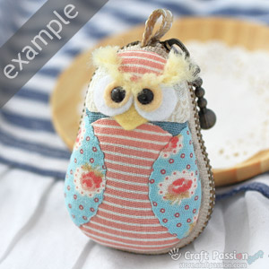 kit to sew owl purse
